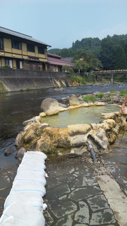 川遊びの後