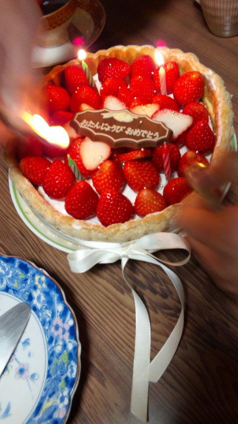 義姉の誕生日の祝いの膳