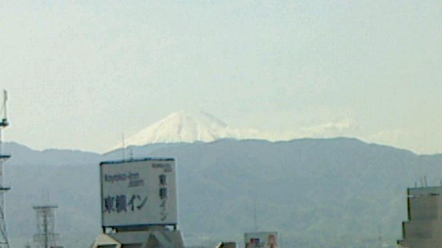 舞鶴城から見る富士山と八ヶ岳