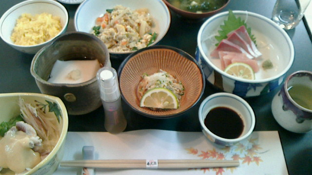 臼杵【春光園】の昼食